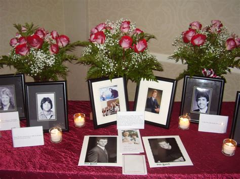memorial table for funeral class reunion memorial ideas 5 ways to honor deceased