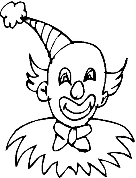 coloring pages of clown hats coloring bald clown with a hat and makeup picture