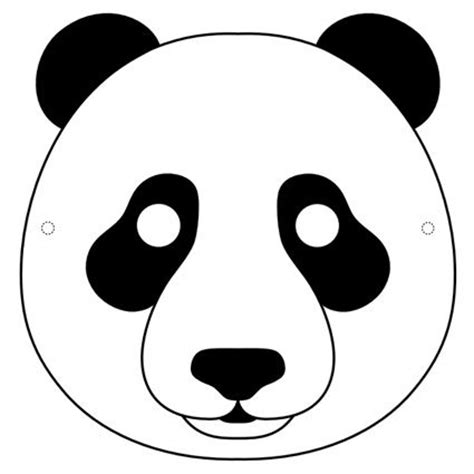 printable endangered animal masks panda mask printable маски pinterest masks panda