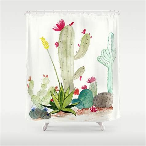 cactus shower curtain 17 best ideas about shower curtain art on pinterest