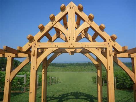 hand crafted custom timber framed pergola by moresun