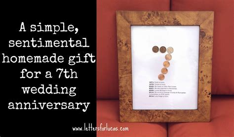 A simple gift idea for your 7th wedding anniversary   7th