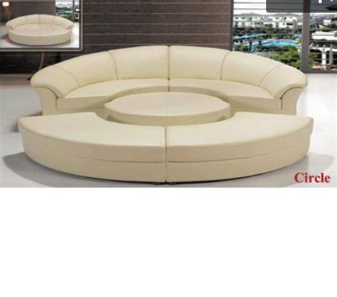 Circle Sectional Sofa Dreamfurniture Divani Casa Circle Modern Leather Circular Sectional 5 Sofa Set