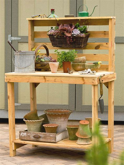wood pallet potting bench make your own garden potting bench herbs and oils hub
