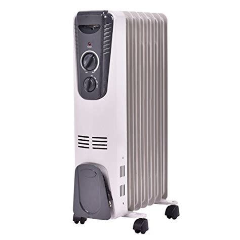 room heater radiator tangkula electric filled radiator heater portable home room radiant heat 5 7 fin thermostat