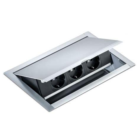 steckdose in arbeitsplatte powerfit k 3 fach steckdose zum einlassen in die arbeitsplatte