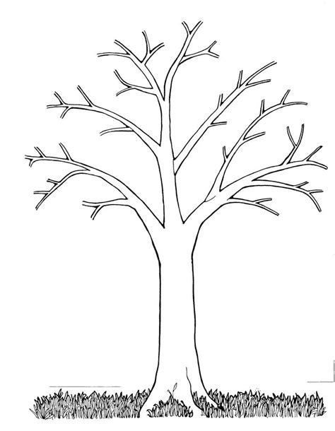 Mormon Share Tree Bare Black And White Tree Tree Templates And White Trees Tree Template Free Printable