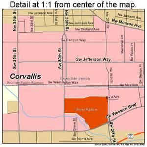 corvallis oregon maps corvallis oregon map 4115800