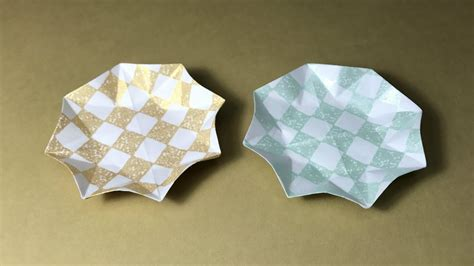 How To Make Paper Dish - origami small plate tray dish bowl
