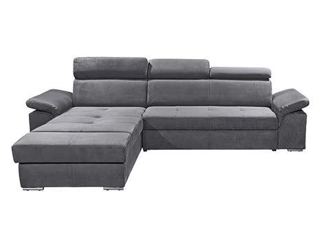 sofa mit ottomane und relaxfunktion ecksofa napoli sofa relaxsofa wohnlandschaft in anthrazit