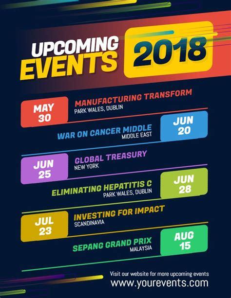 Modern Upcoming Event Calendar Poster Flyer Template Design Event Flyer Templates Event Upcoming Events Flyer Template