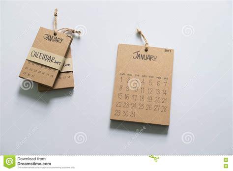 Handmade Calendar - vintage calendar 2017 handmade stock image image 80317489