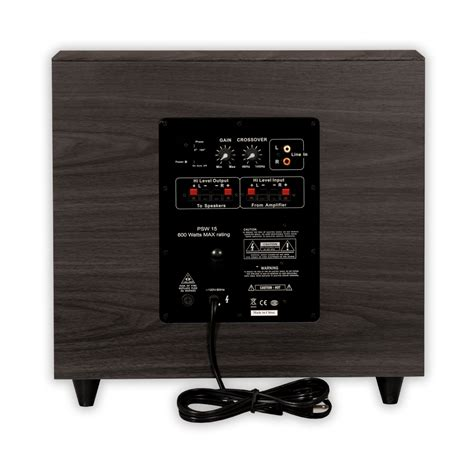 acoustic audio psw home theater powered  subwoofer
