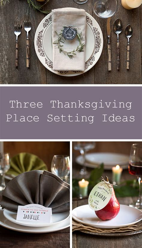 place setting ideas three diy thanksgiving place settings gift favor ideas from evermine