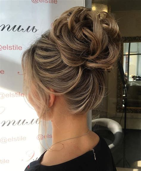 formal hairstyles high bun 60 updos for thin hair that score maximum style point