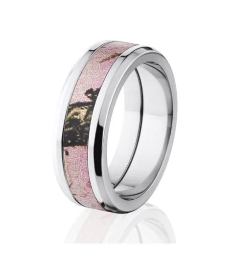 pink camo wedding rings   A Trusted Wedding Source by Dyal.net