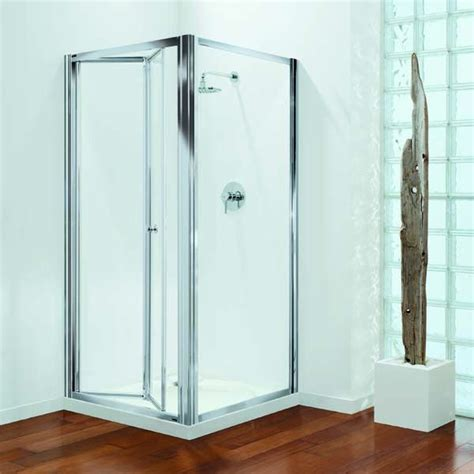 730mm Shower Door Coram Premier 900mm Bi Fold Shower Door Polished Silver Plain Glass