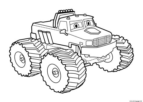 Easy Bigfoot Truck Coloring Pages Printable