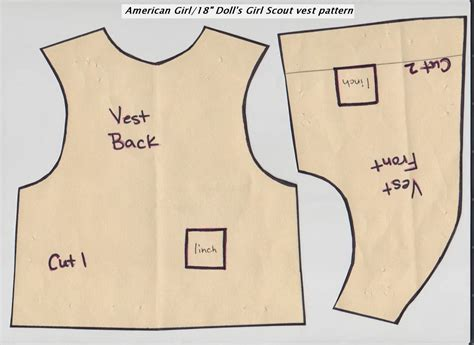 free printable vest pattern girl scout daisy vest pattern for american girl doll