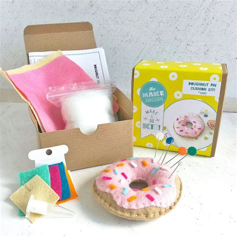 Sewing Kit Craft Diy Donut Diy Kits Diy Crafts By