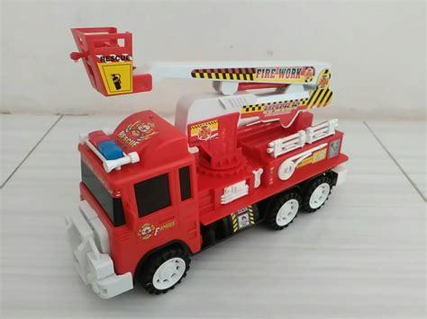 Mobil Pemadam Battery jual mainan mobil pemadam kebakaran rescue car ijo daun