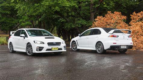 subaru mitsubishi wrx sti vs evo auto cars