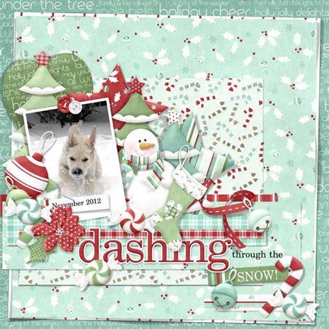 digital scrapbooking layout idea christmas nitwit