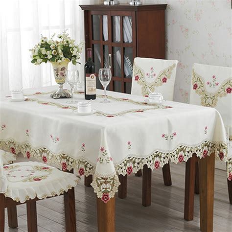 new design polyester embroidery tablecloth