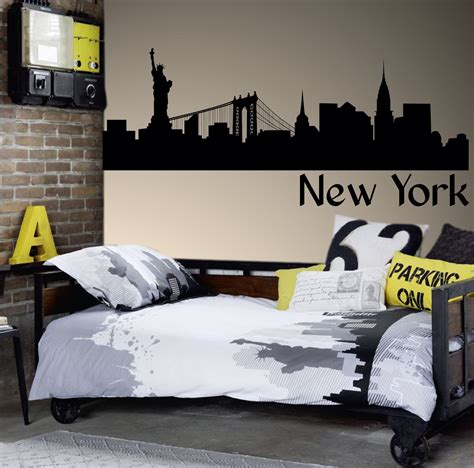 home decor new york g152 new york skyline statue of liberty wall sticker