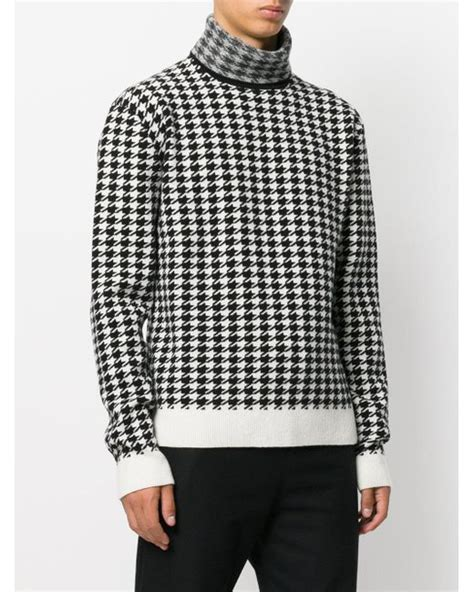 houndstooth pattern jumper haider ackermann houndstooth pattern jumper in black for