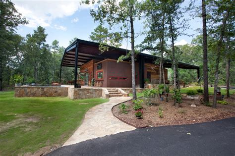 House Canopy Canopy House Rustic Exterior Dallas By Wright