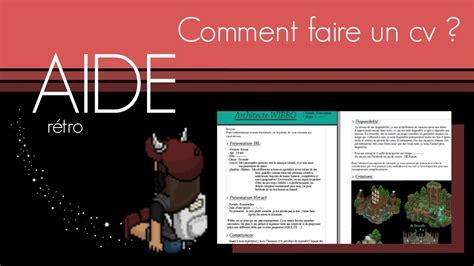 écrire Un Cv Exemple by Aide A Faire Un Cv Dedooddeband