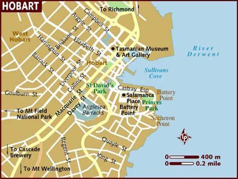 map of hobart city map of hobart