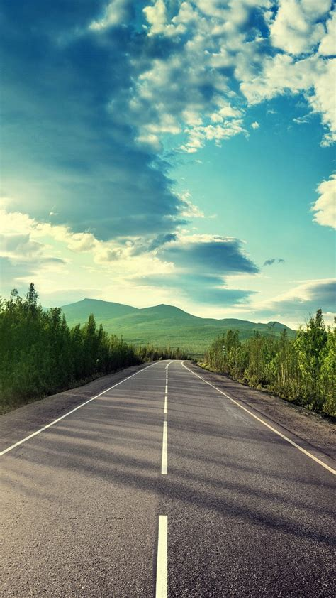 wallpaper iphone 6 road suny weather road to mountain iphone wallpaper iphone