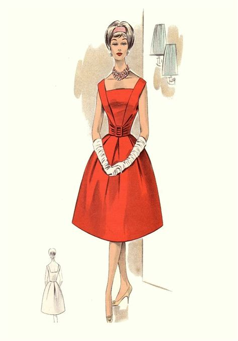 1960s fashion one inch apart