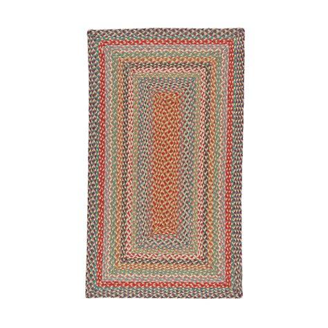 rectangular braided rugs buy the braided rug company rectangular rug 61x91cm carnival amara