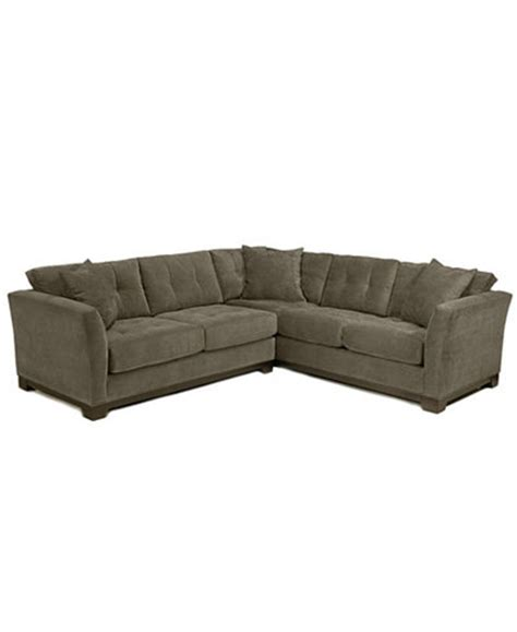macy s elliot couch elliot fabric microfiber 2 piece sectional sofa created