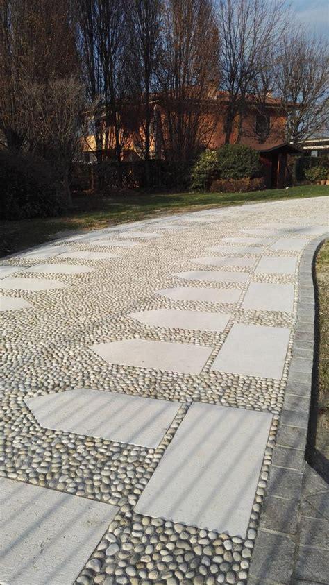 pavimenti in pietra per esterno pavimento esterno in pietra porfido ciottolo verona