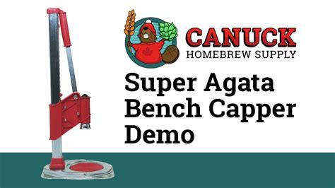 super agata bench bottle capper super agata bench bottle capper canuck homebrew supply