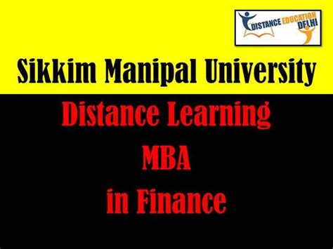 Distance Learning Mba Is Or Not by Smu Distance Learning Mba In Finance Authorstream