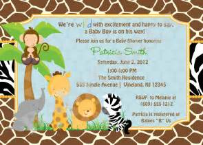 baby shower invitations safari theme wording safari jungle animals baby shower invitation
