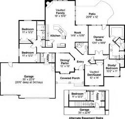 house plans 5 bedrooms ranch style house plans 2507 square foot home 1 story 5 bedroom and 3 bath 3 garage stalls