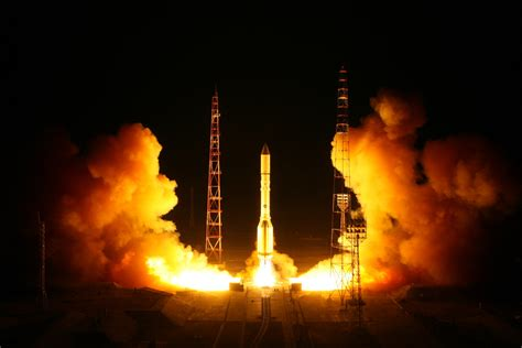 Proton Rocket Launch by Proton M Launches Satellite Into Orbit