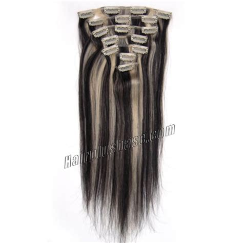 26 inch 1b 613 clip 26 inch 1b 613 clip in remy human hair extensions 12pcs