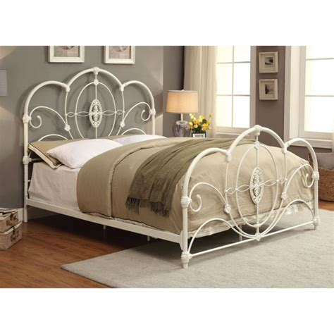 King Size White Metal Bed Frame Vintage Metal Bed Frames For Sale