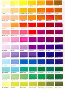 color shading color shades chart colors colour chart