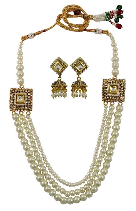 Halskette Perlen Hochzeit by Ethnische Perlen 2pc Halskette Ohrringe Set Hochzeit