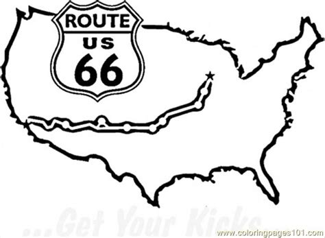 Route 66 Coloring Pages Famous Route 66 Coloring Page Free Usa Coloring Pages by Route 66 Coloring Pages