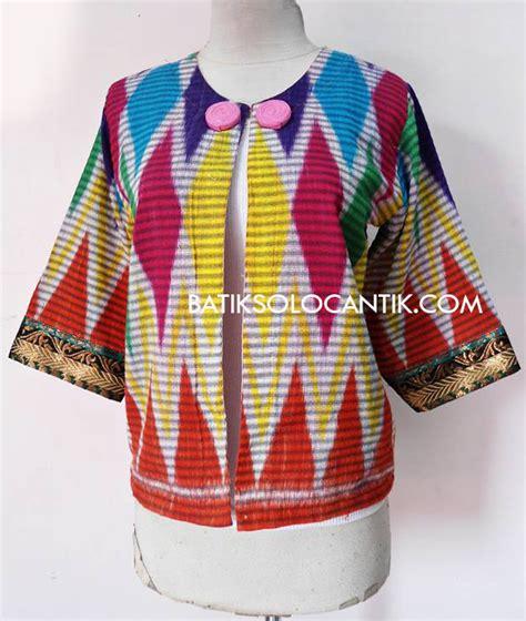 Balero Tenun bolero tenun ikat rang rang 05 baju kerja batik