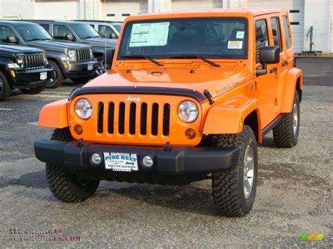 orange jeep 2012 jeep wrangler unlimited rubicon 4x4 in crush orange